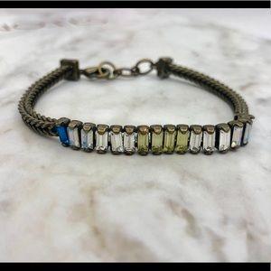 Chloe + Isabel Crystal Baguette Bracelet